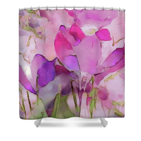 Crocus So Pink Shower Curtain