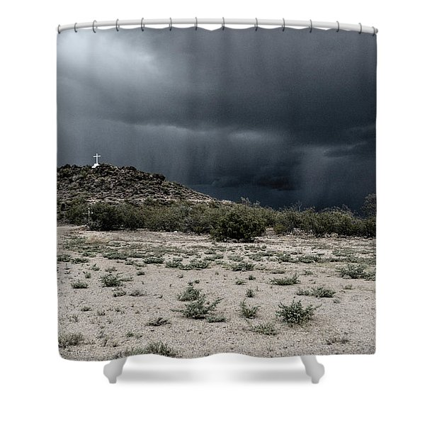 Cross On A Hill Shower Curtain