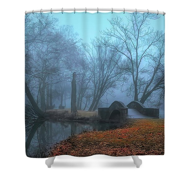 Crossing Into Winter Shower Curtain