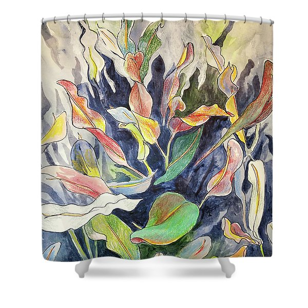 Croton Plant Shower Curtain