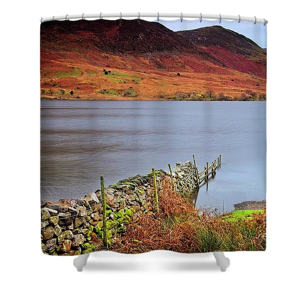 Crummock Water - English Lake District Shower Curtain