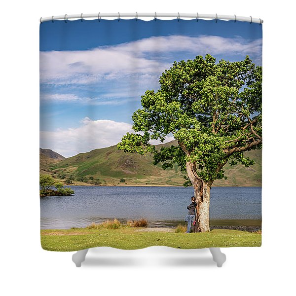 Crummock Water View Shower Curtain