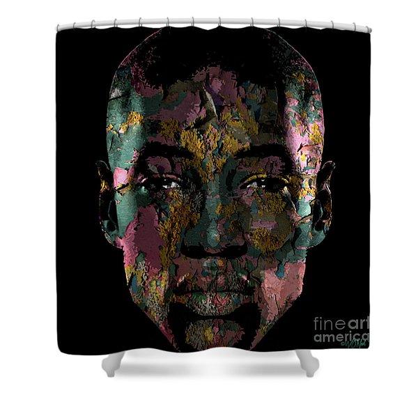 Cryptofacia 3 - James Shower Curtain