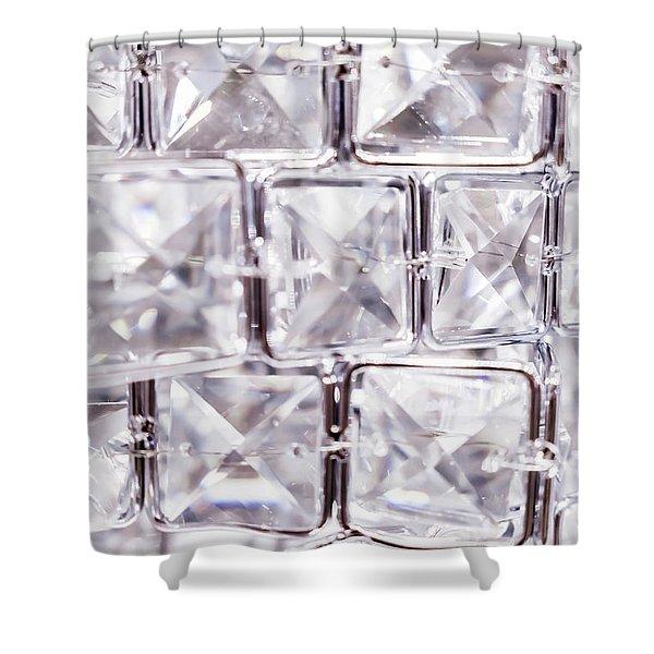 Crystal Bling V Shower Curtain