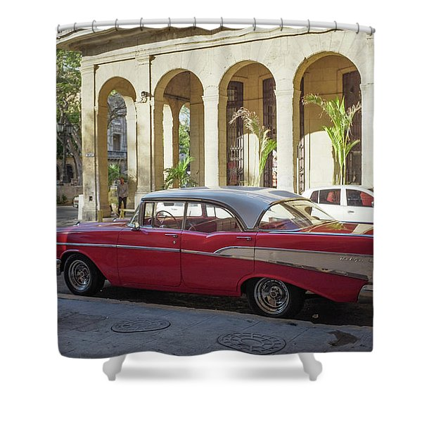 Cuban Chevy Bel Air Shower Curtain