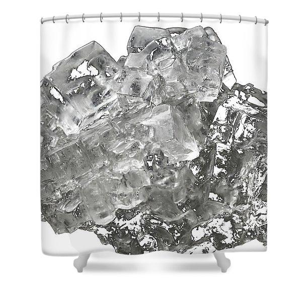 Cubic Salt Crystal Aggregate  Shower Curtain