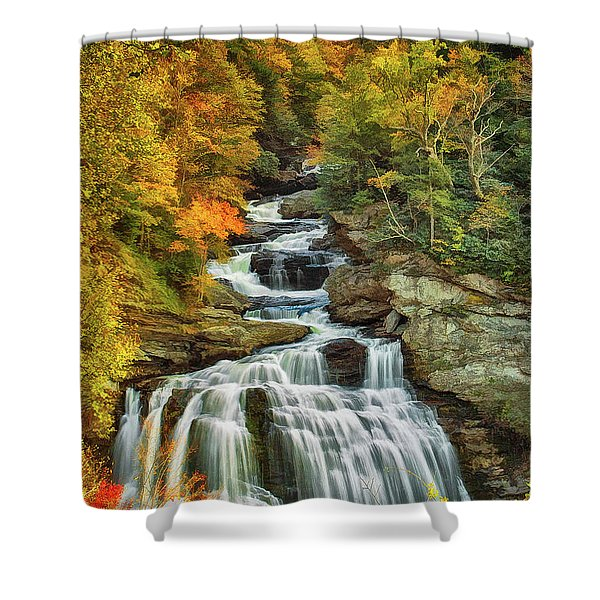 Cullasaja Falls Shower Curtain