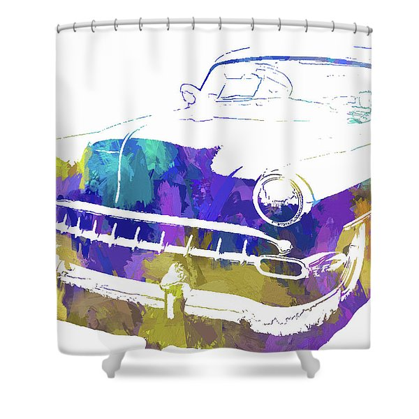 Custom 1954 Chevy Abs Inv Shower Curtain