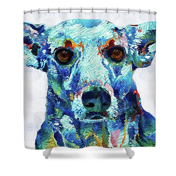 Custom Dog Art - Nina - Sharon Cummings Shower Curtain