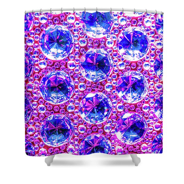 Cut Glass Beads 4 Shower Curtain