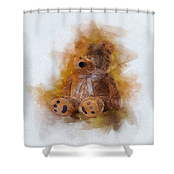 Cute Bear Shower Curtain