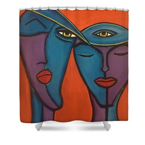 Twin Flame Shower Curtain