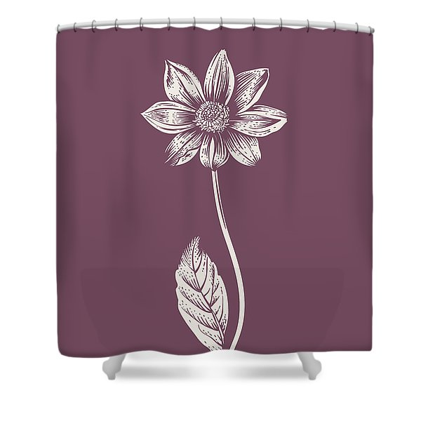 Dahlia Purple Flower Shower Curtain