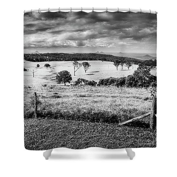 Dahmongah Lookout, Mount Mee Shower Curtain
