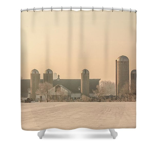 Dairy Barn And Silos Shower Curtain
