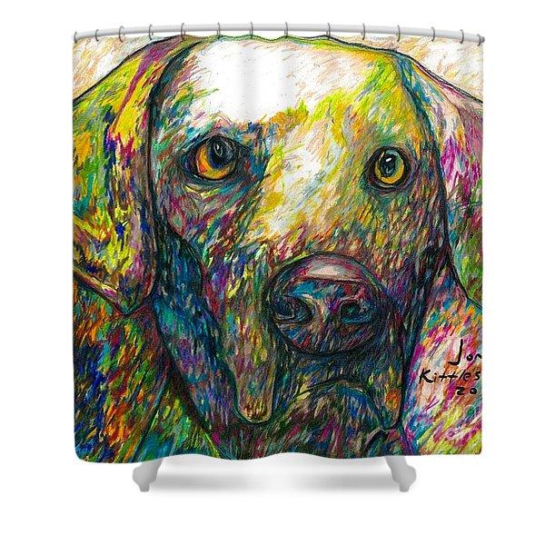 Daisy The Dog Shower Curtain