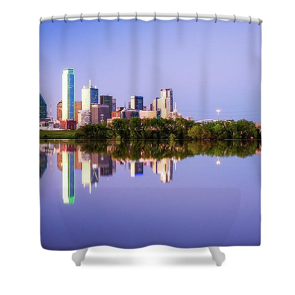 Dallas Texas Houston Street Bridge Shower Curtain