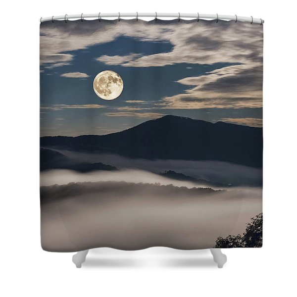 Dance Of Clouds And Moon Shower Curtain