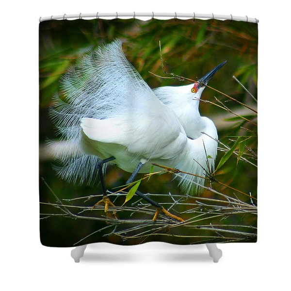 Dancing Egret Shower Curtain