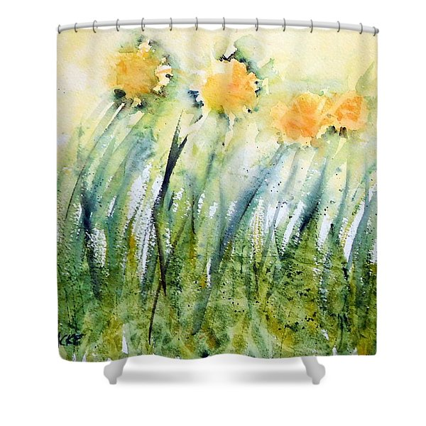 Dandelions In The Grass Shower Curtain