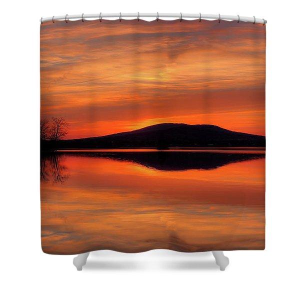 Dan's Sunset Shower Curtain