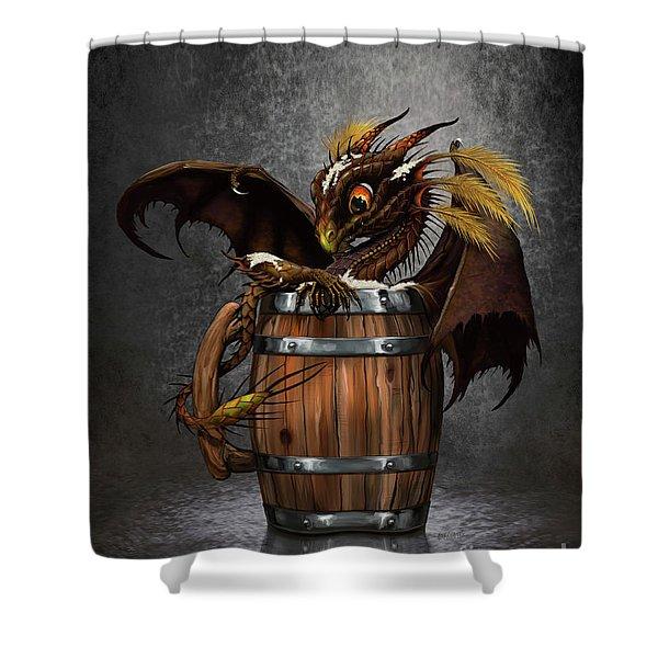 Dark Beer Dragon Shower Curtain
