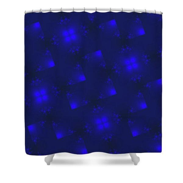 Dark Blue Holiday Background Shower Curtain