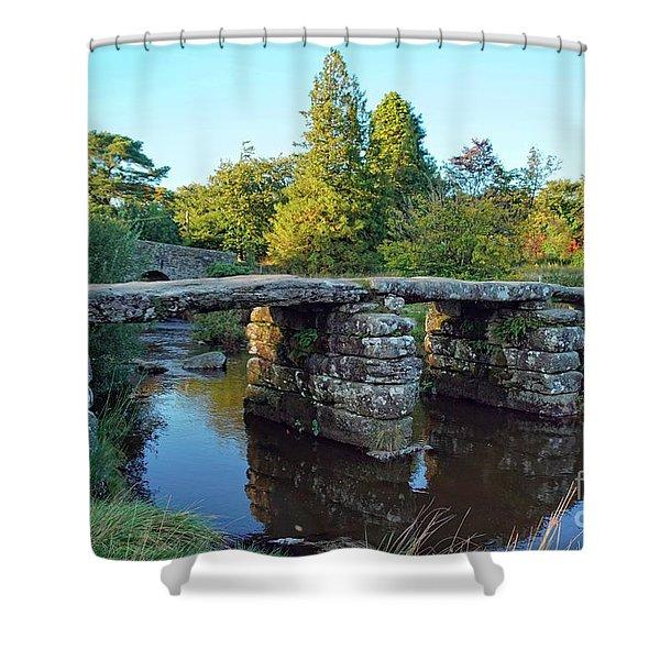 Dartmoor Clapper Bridge Shower Curtain
