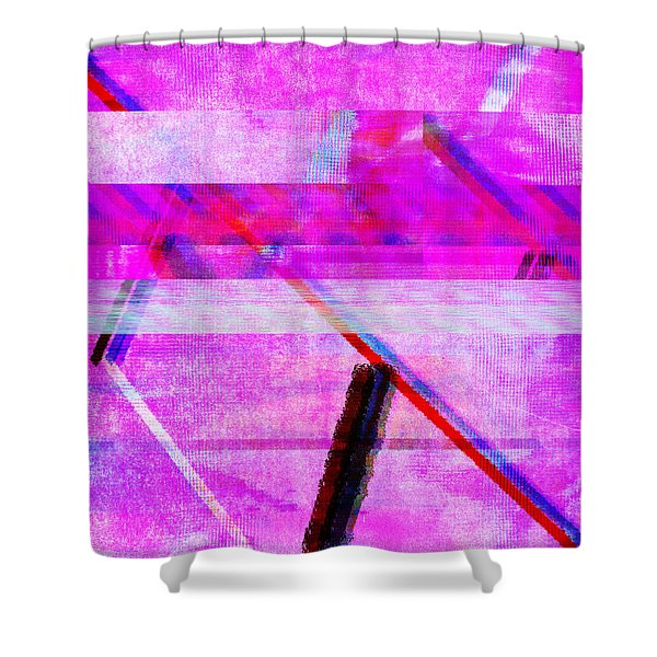 Databending #1 Shower Curtain