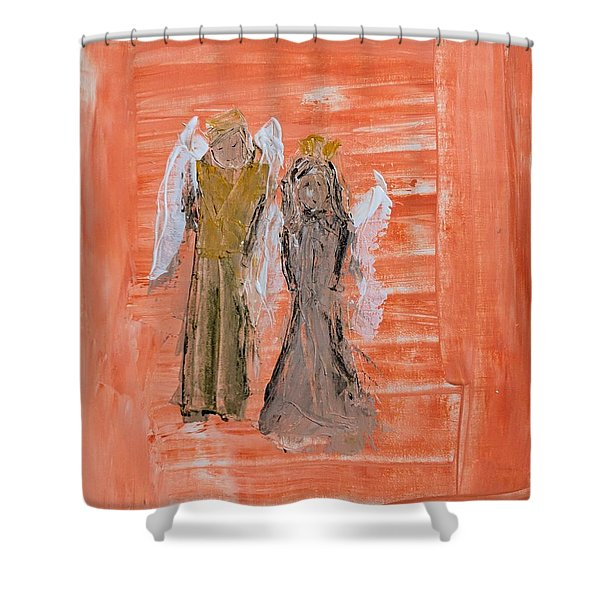 Dating Angels Shower Curtain