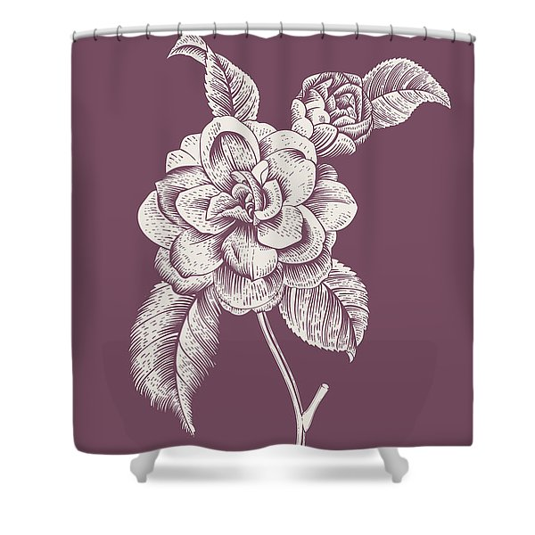 Datura Blush Pink Flower Shower Curtain