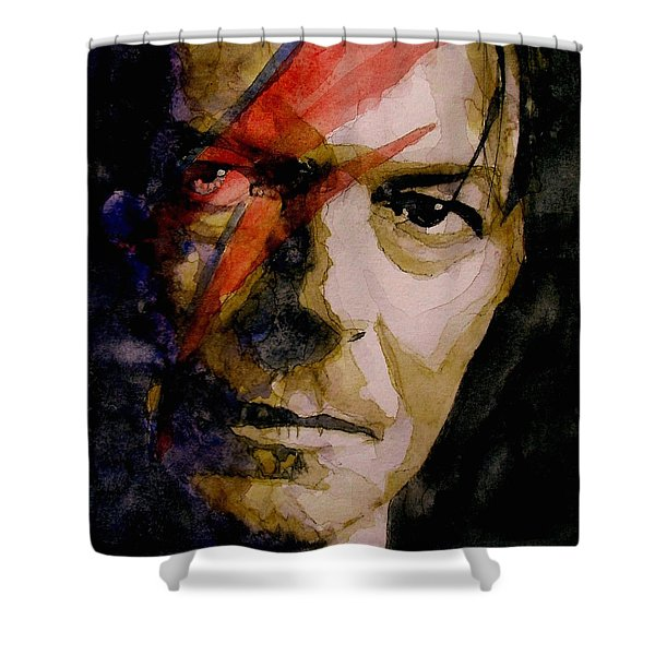 David Bowie - Past And Present  Shower Curtain