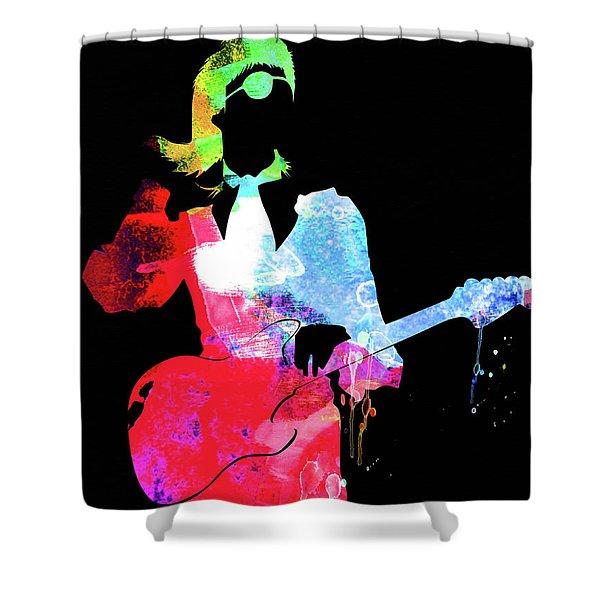 David Watercolor II Shower Curtain