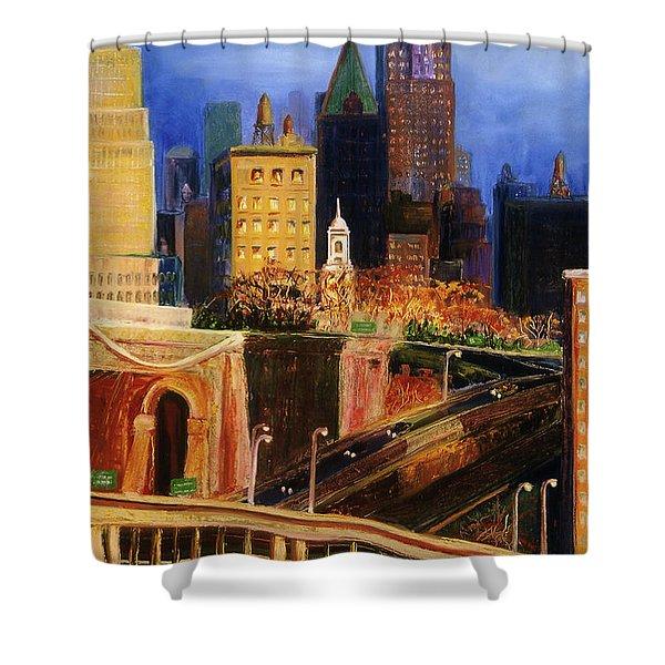 Dawn At City Hall Shower Curtain
