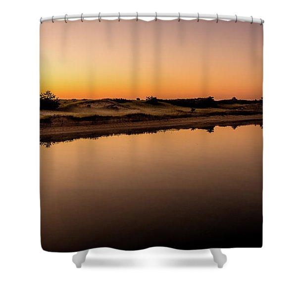 Dawn Light, Ogunquit River Shower Curtain