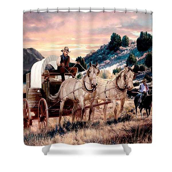 Dawn's Early Drive 2 Shower Curtain