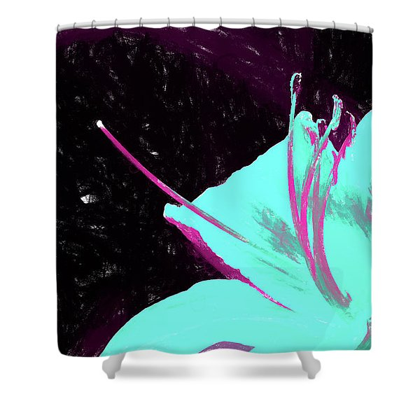 Day Lily Dual Tone  Shower Curtain
