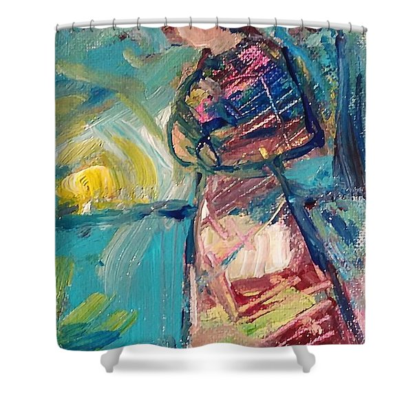 Shower Curtain featuring the painting Daybreak by Deborah Nell
