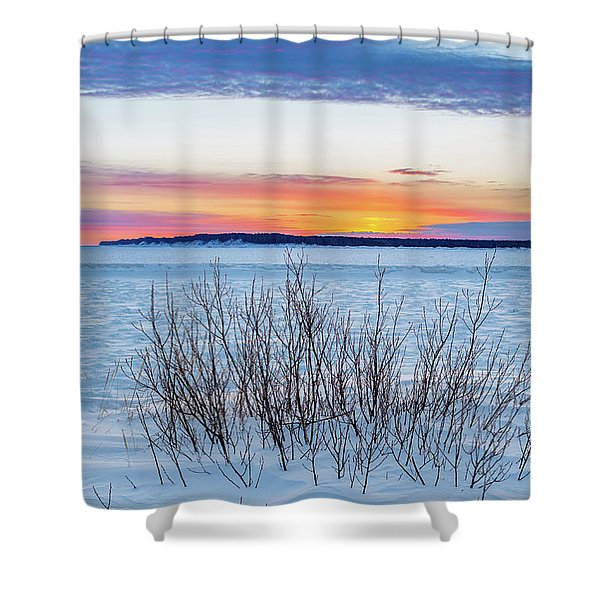 Daybreak Over East Bay Shower Curtain