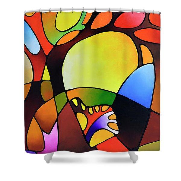 Daydream Canvas Three Shower Curtain