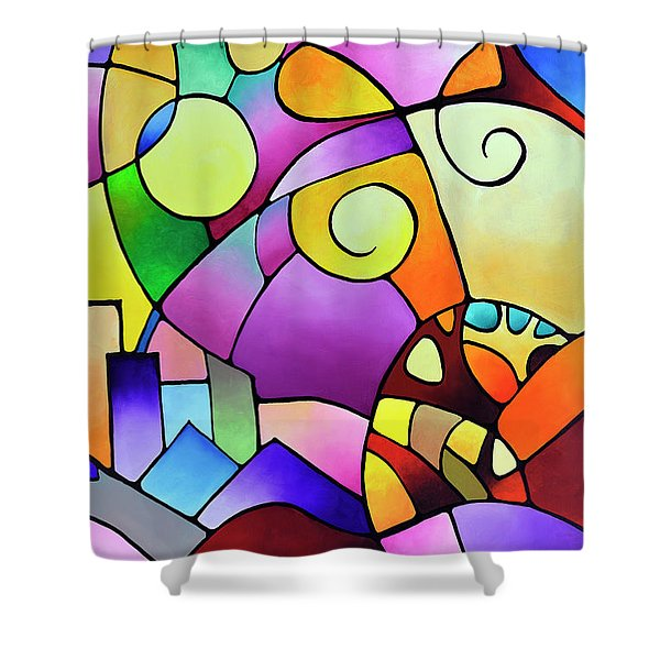 Daydream Canvas Two Shower Curtain