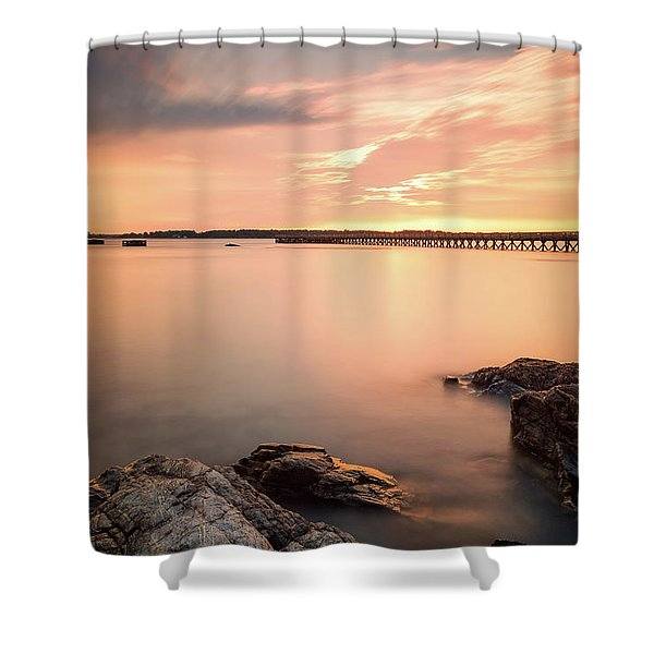 Shower Curtain featuring the photograph Days End Daydream  by Jeff Sinon