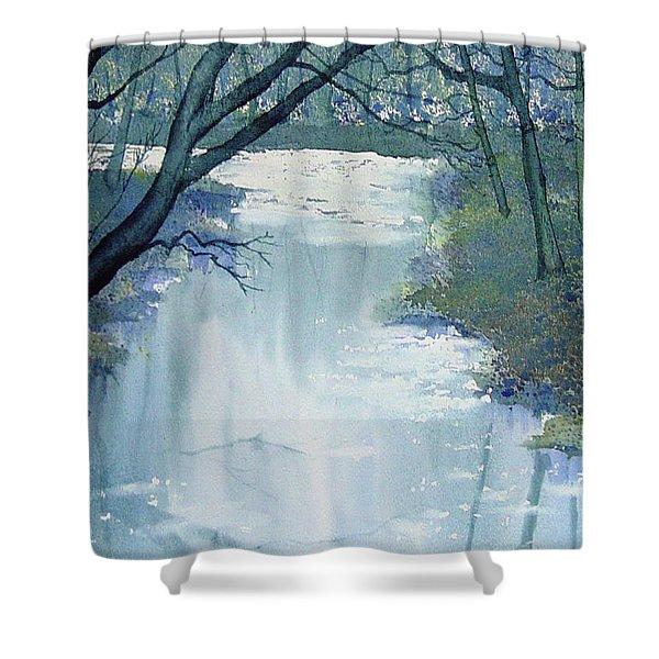 Dazzle On The Derwent Shower Curtain