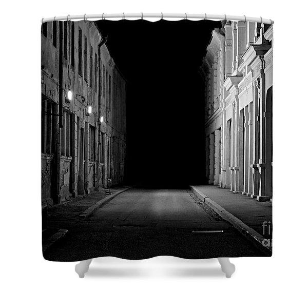 Deadend Alley Shower Curtain