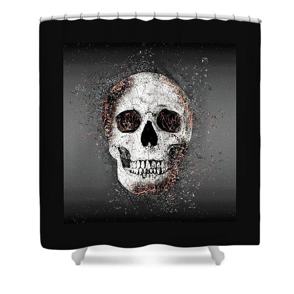 Death Skull Shower Curtain