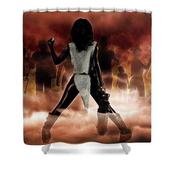 Deathstalker Vs Evil Dead Shower Curtain
