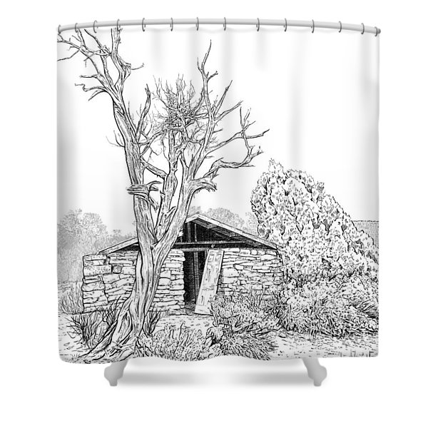 Decay Of Calamity The Half Life Of A Dream Black And White  Shower Curtain
