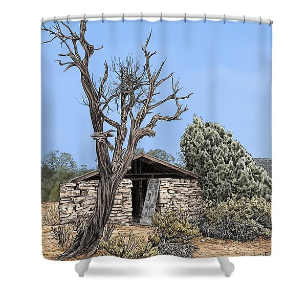 Decay Of Calamity The Half Life Of A Dream Shower Curtain