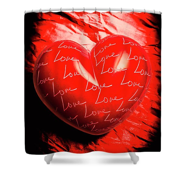 Decorated Romance Shower Curtain