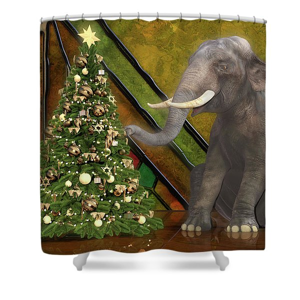 Decorating The Perfect Tree Shower Curtain